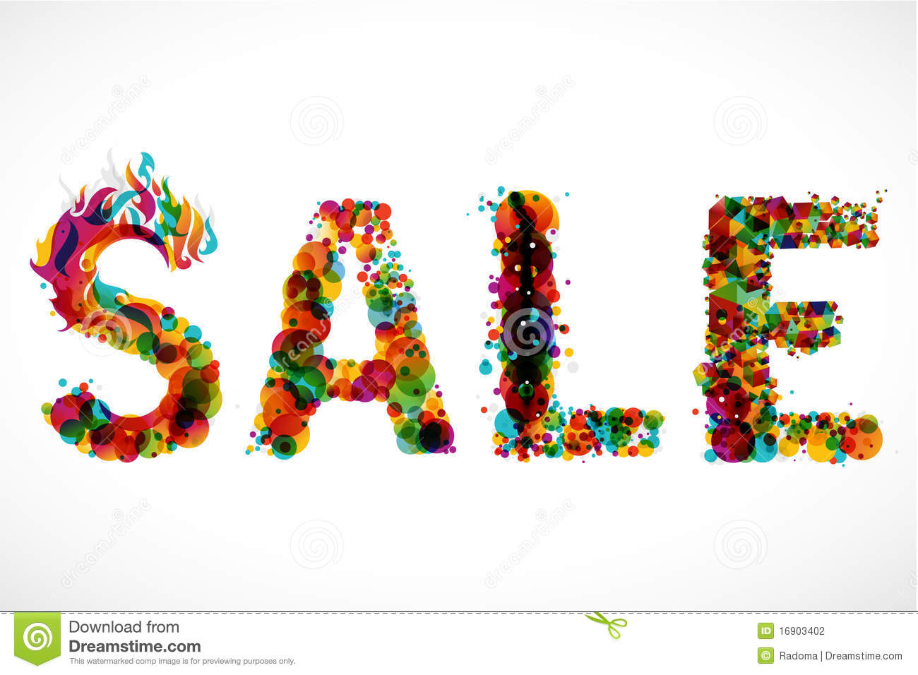 Sale Funky Graphic Design Stock Photography Image