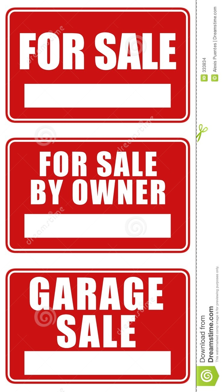 For Sale And Garage Signs Stock Images Image 333834