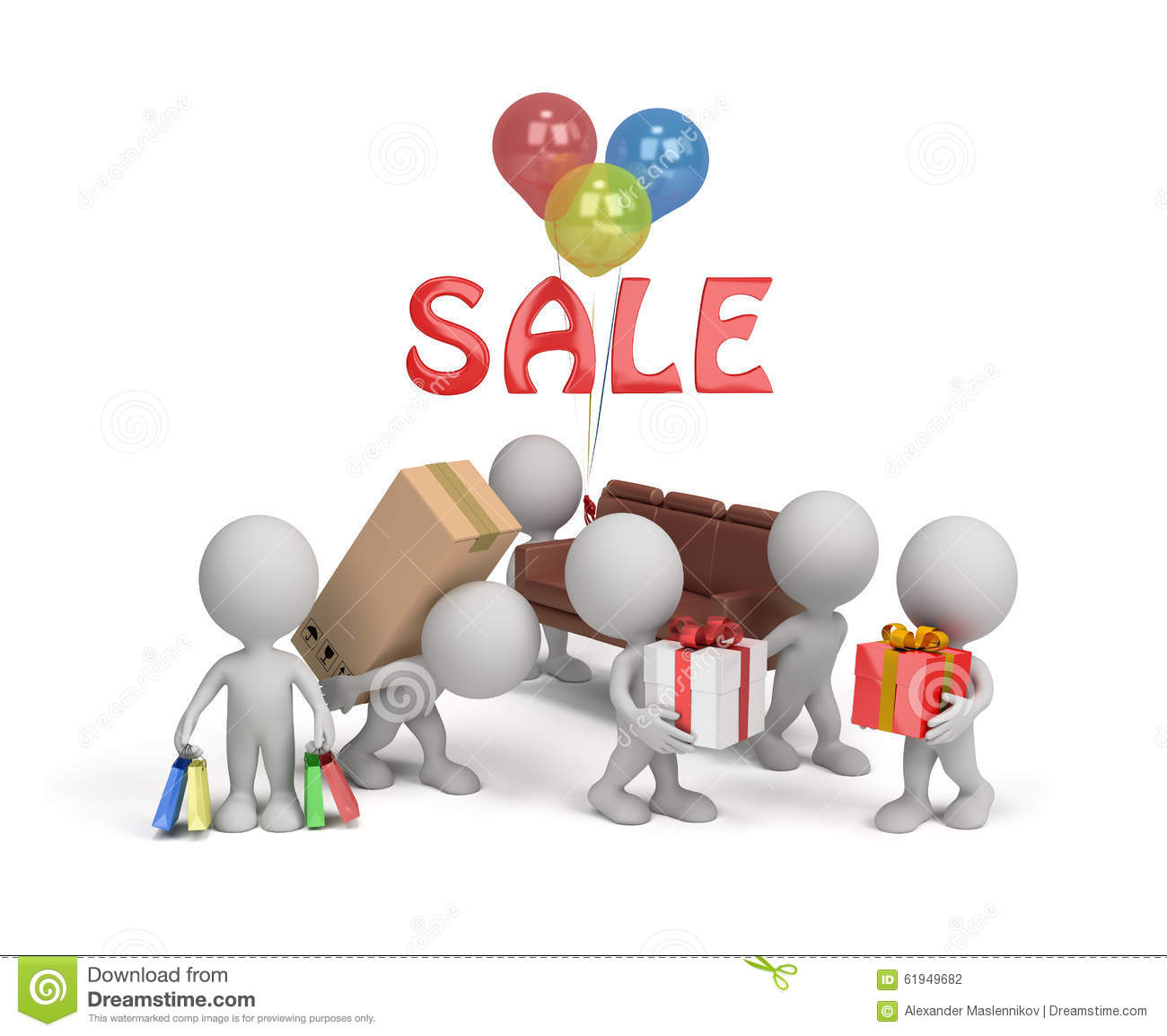 Discounted Home Goods: Sale Of Goods Stock Illustration