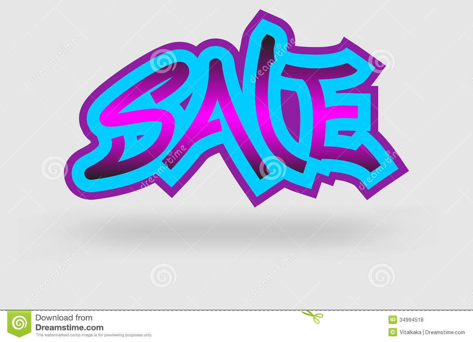 Sale Graffiti Royalty Free Stock Photos - Image: 34994518