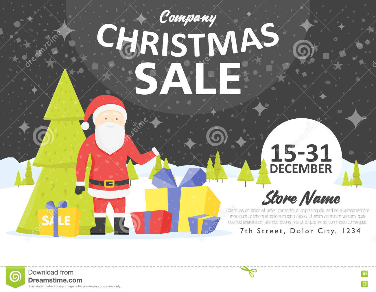 Sale Holiday Website Banner Templates. Christmas And New Year ...