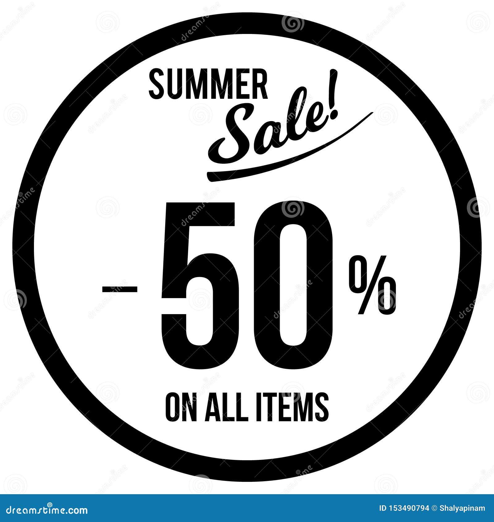 50  Sale klistermärkemall