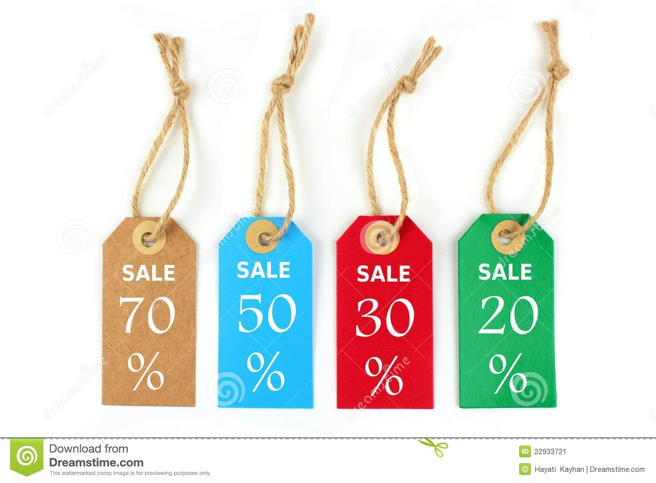 Sale Labels 70 50 30 20 Stock Image Image Of