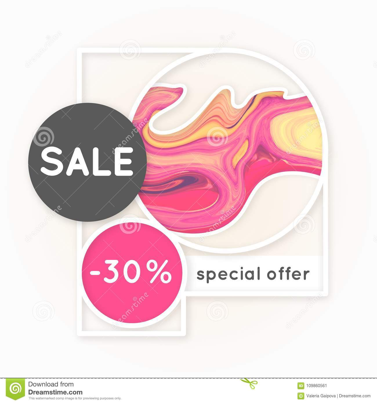 Sale. Marbling. Marble texture. Discount. Vector abstract colorful background. Paint splash. Colorful fluid. Shopping