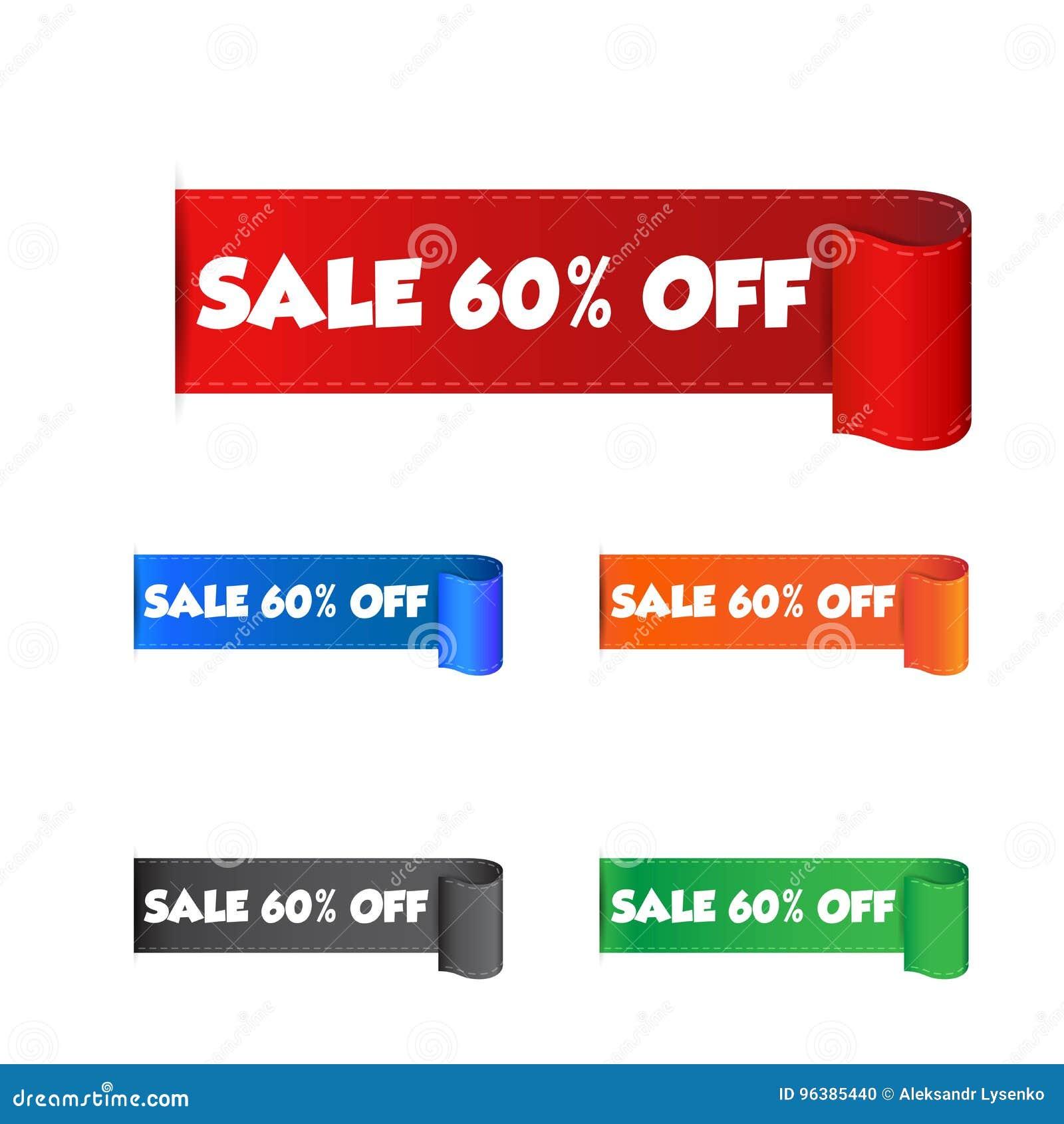 6d6593f67 Sale 60% Off Sticker. Label Vector Illustration On White Background ...