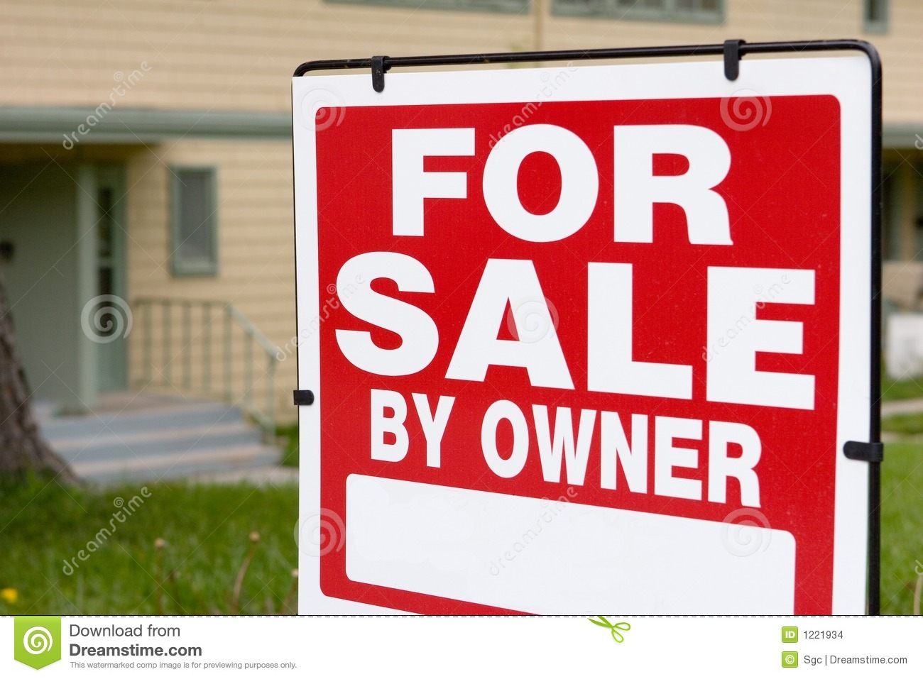For sale by owner stock photo Image of realtor broker 1221934