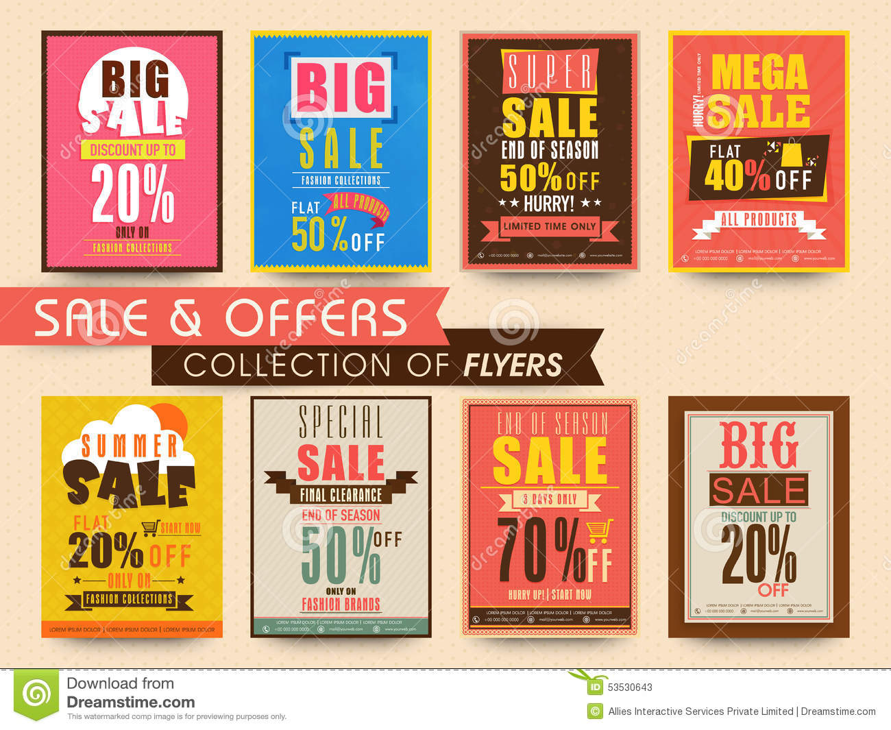 poster banner or flyer collection stock illustration poster banner or flyer collection