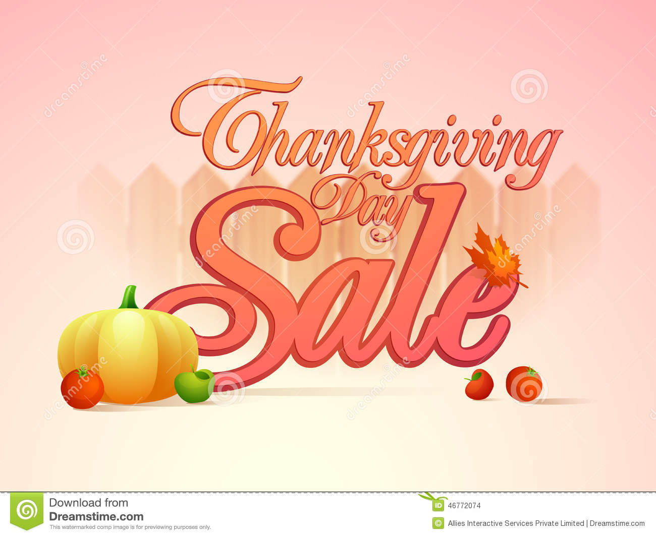 Sale Poster Banner Or Flyer For Thanksgiving Day