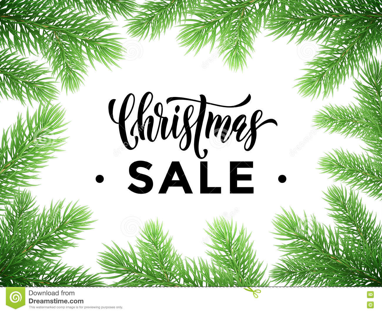 sale poster for christmas promo shopping store stock vector