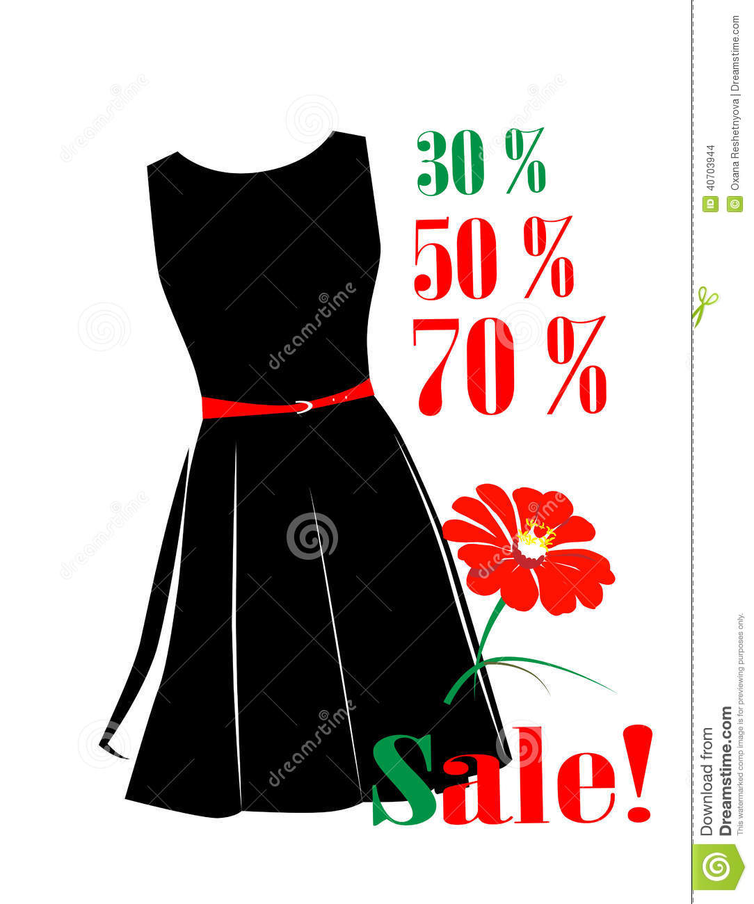 Sale poster stock vector image 40703944 for Cheap prints and posters