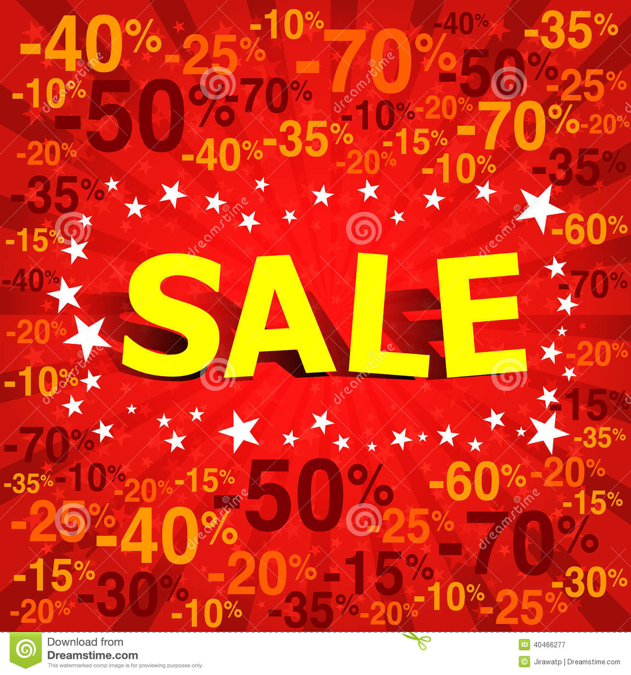 Sale poster with percent discount stock vector image for Cheap prints and posters