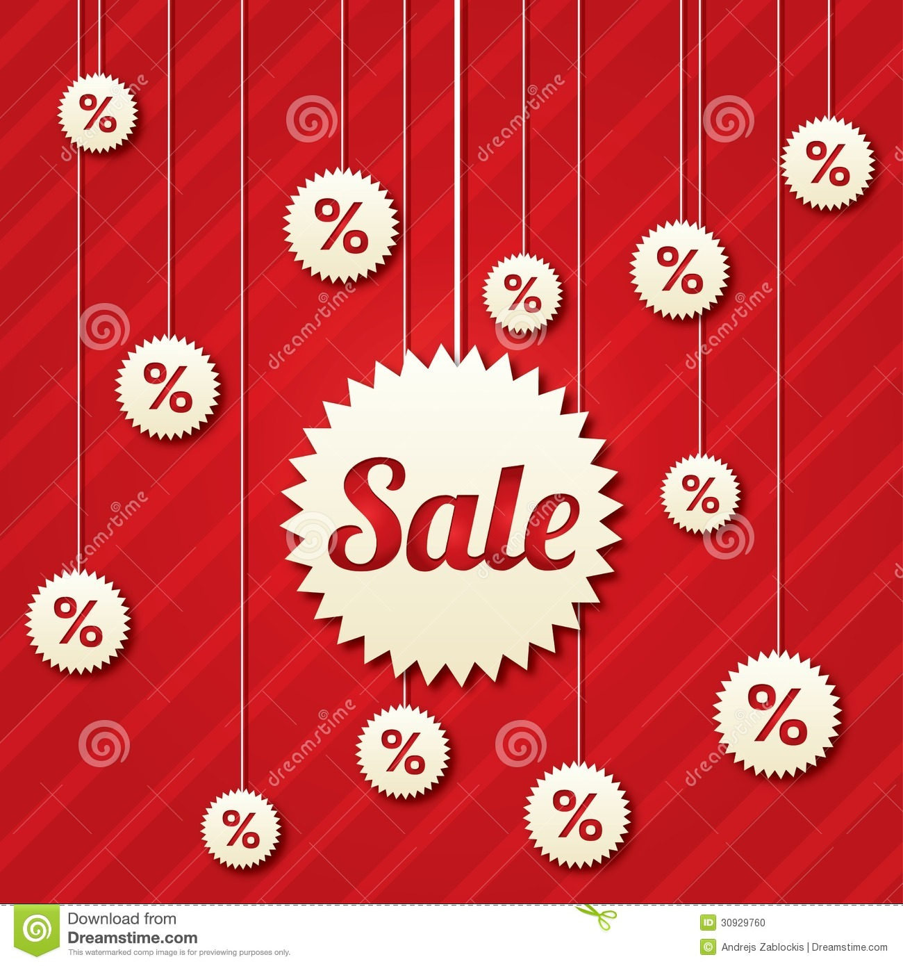 Sale poster with percent discount vector stock photo for Abstract posters for sale