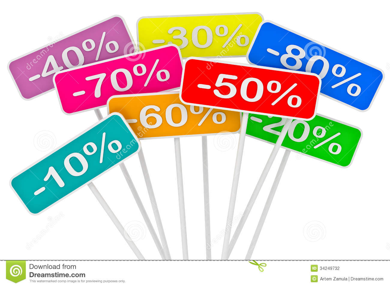 Sale poster with percent discount stock photography for Cheap white wallpaper