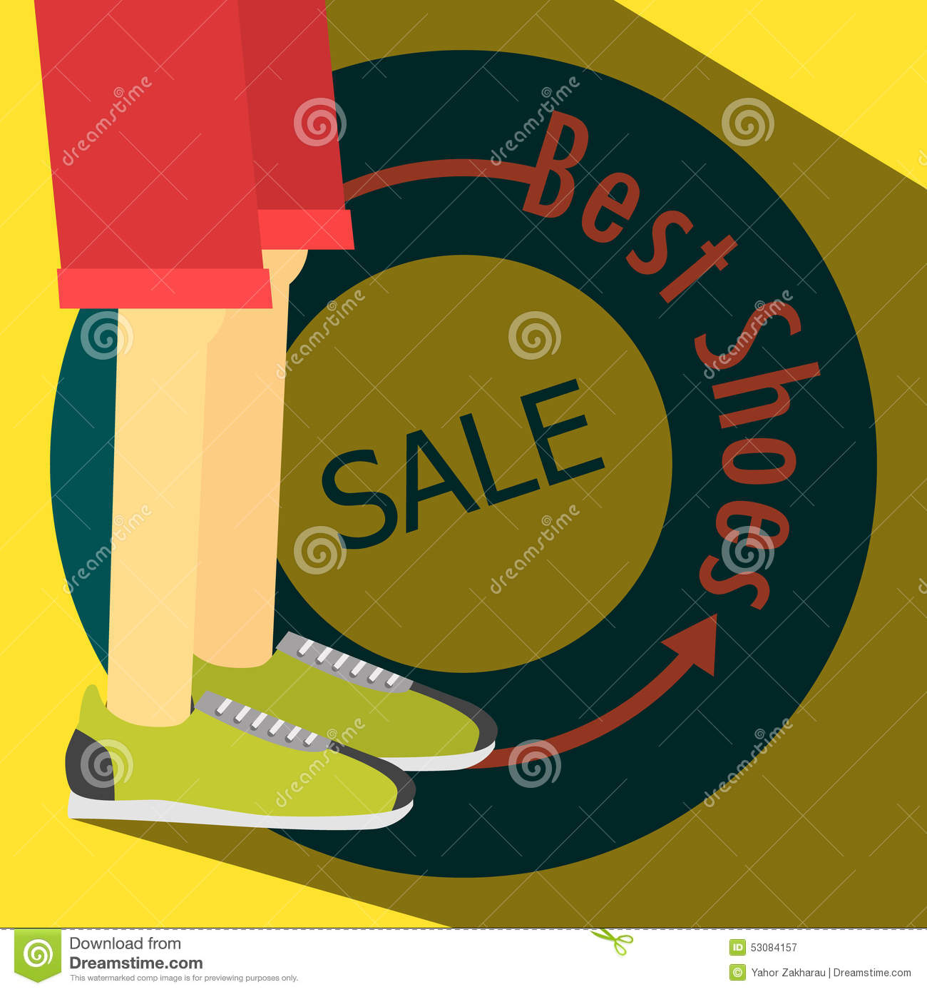 a29a284b9 ... Shoe Sale Banner: SALE Poster, Running Shoes Stock Vector
