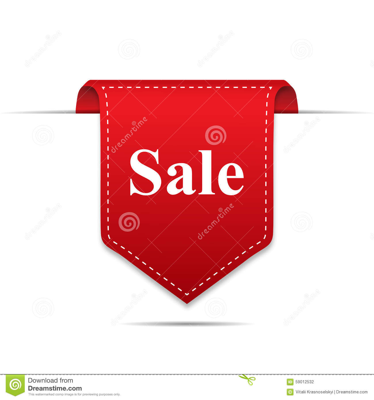 Sale Product Red Label Icon With Shadow On White Background Royalty Free Vector