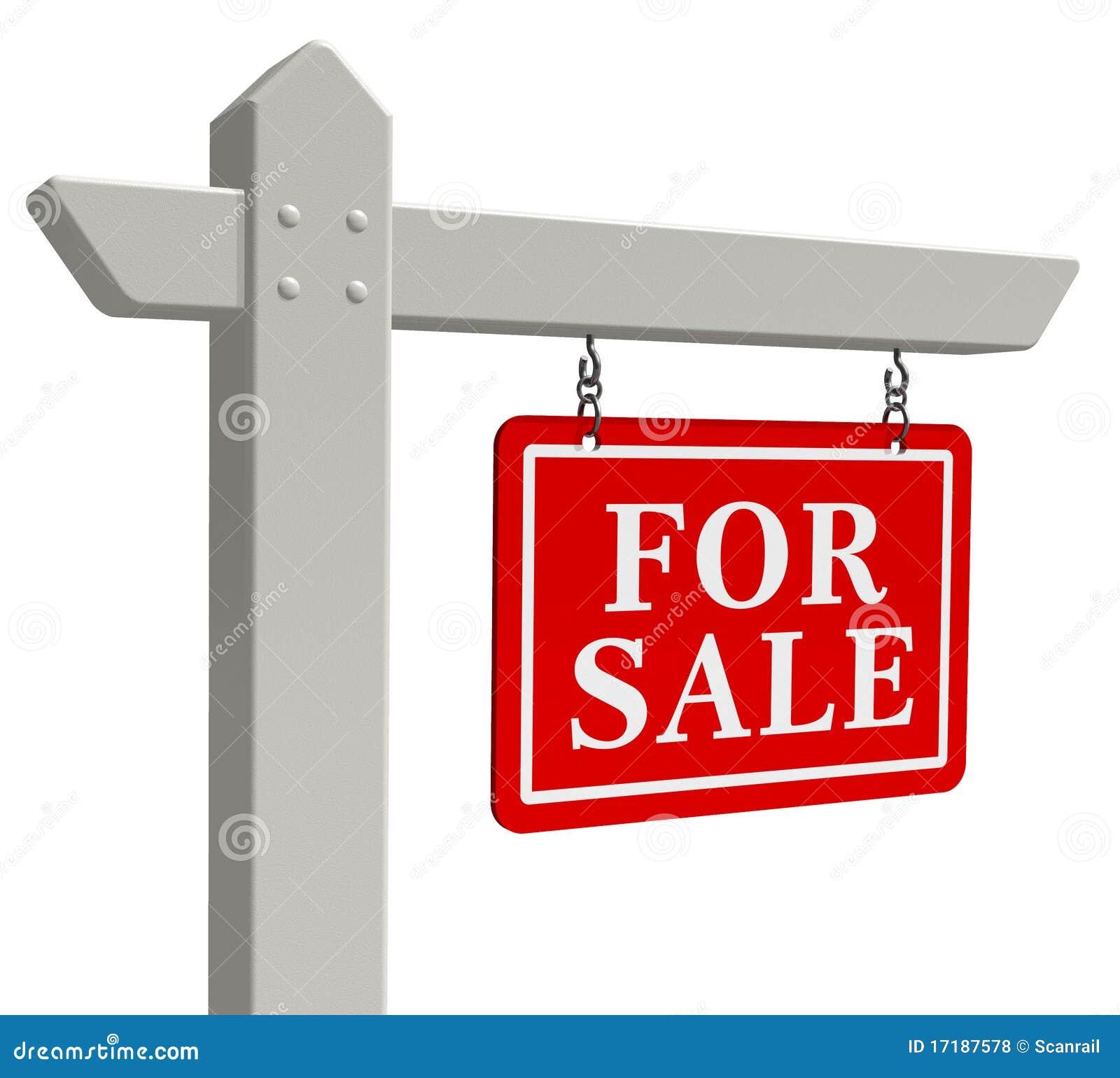 For Sale Real Estate Sign Stock Illustration. Illustration