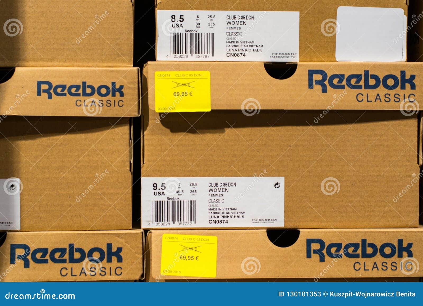 reebok shoes box