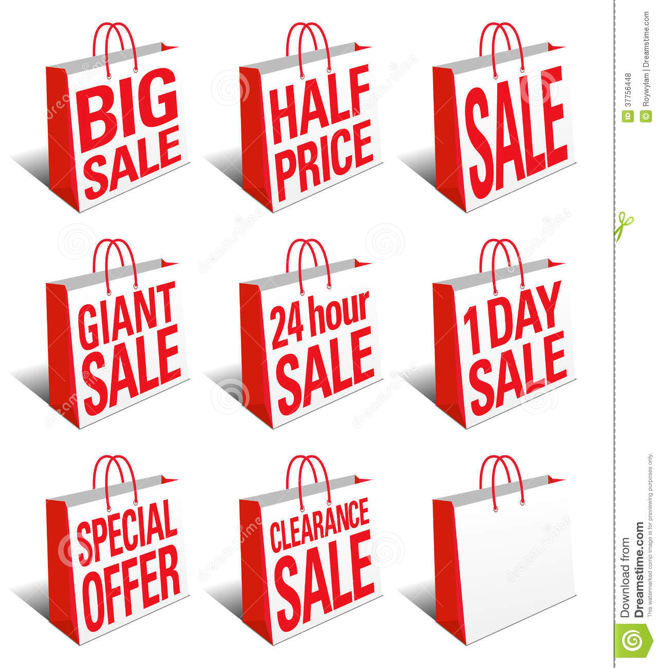Shopping Bags Sale Symbol Stock Photo - Image: 18671930