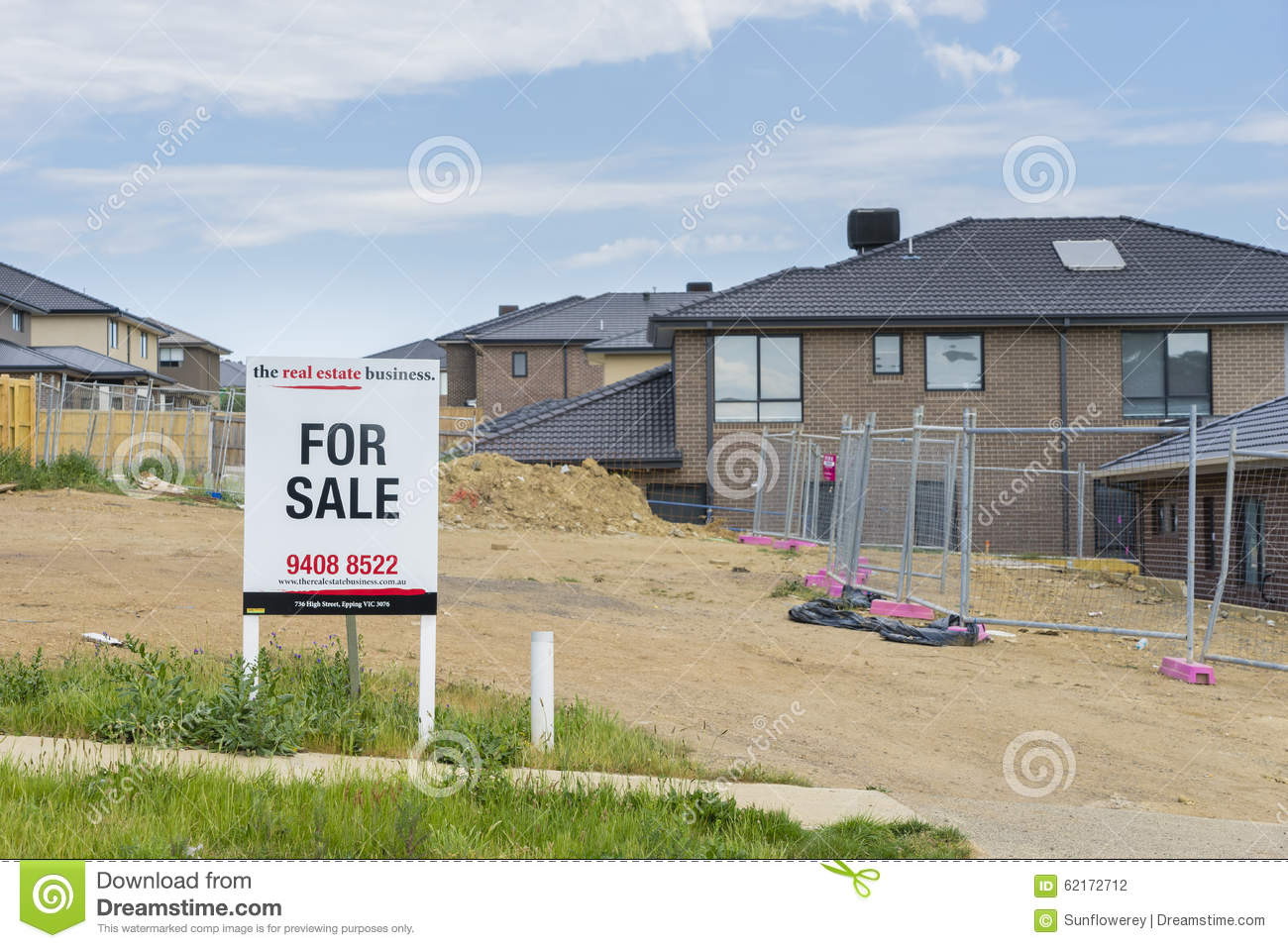 For sale sign on display oustide vacant land in melbourne editorial photography image 62172712 Display home furniture auction melbourne