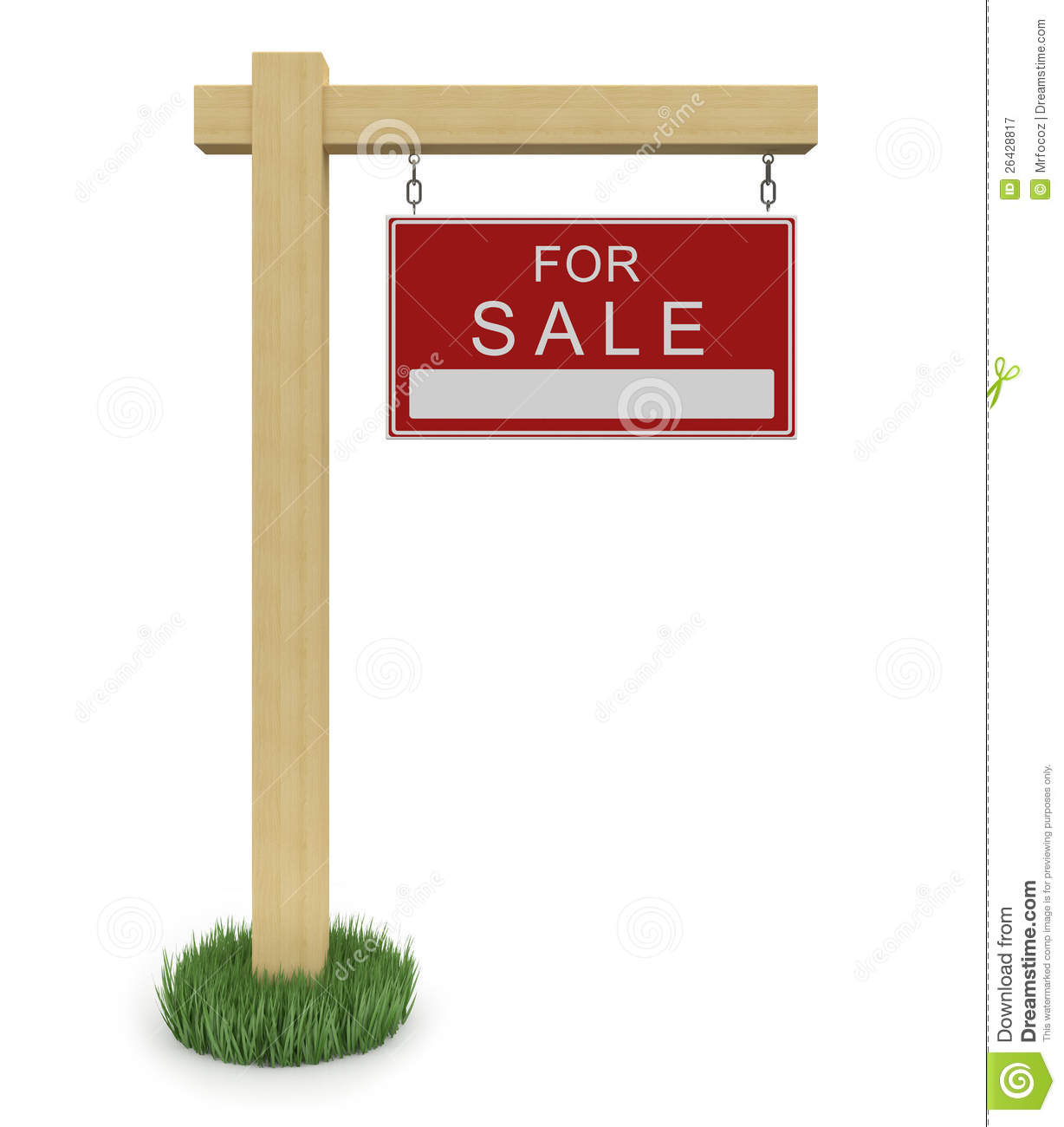 For Sale Sign With Path Royalty Free Stock Photography - Image ...