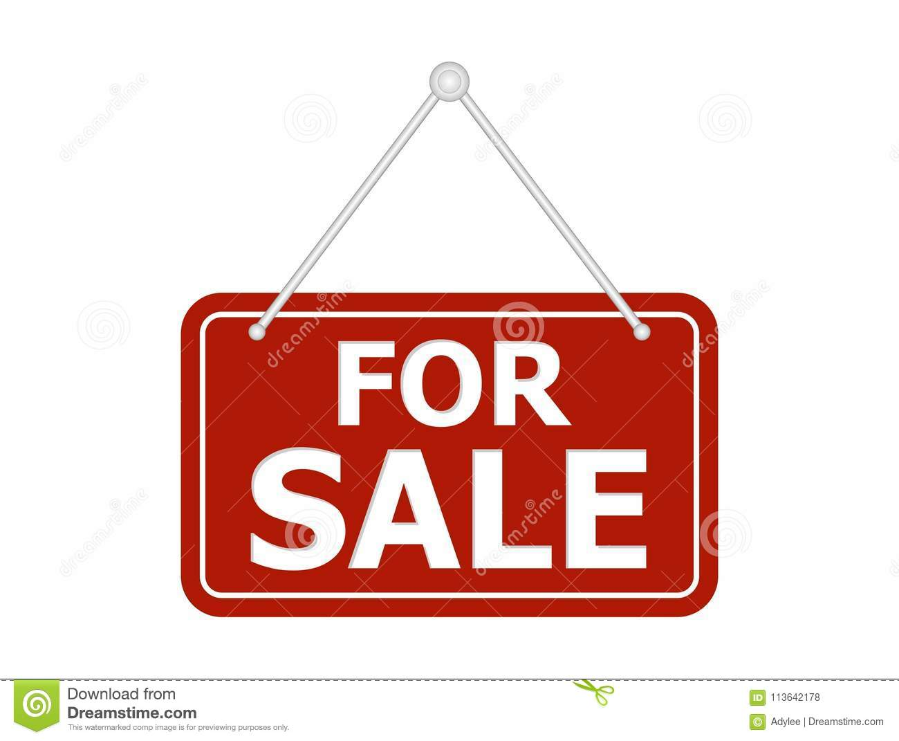 red for sale sign stock photo  illustration of bargain