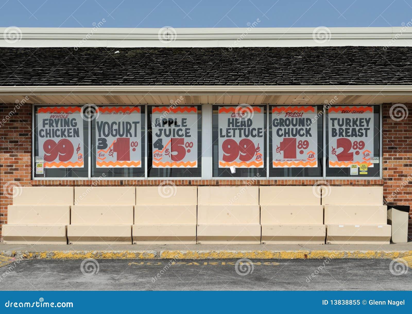Vintage Grocery Windows