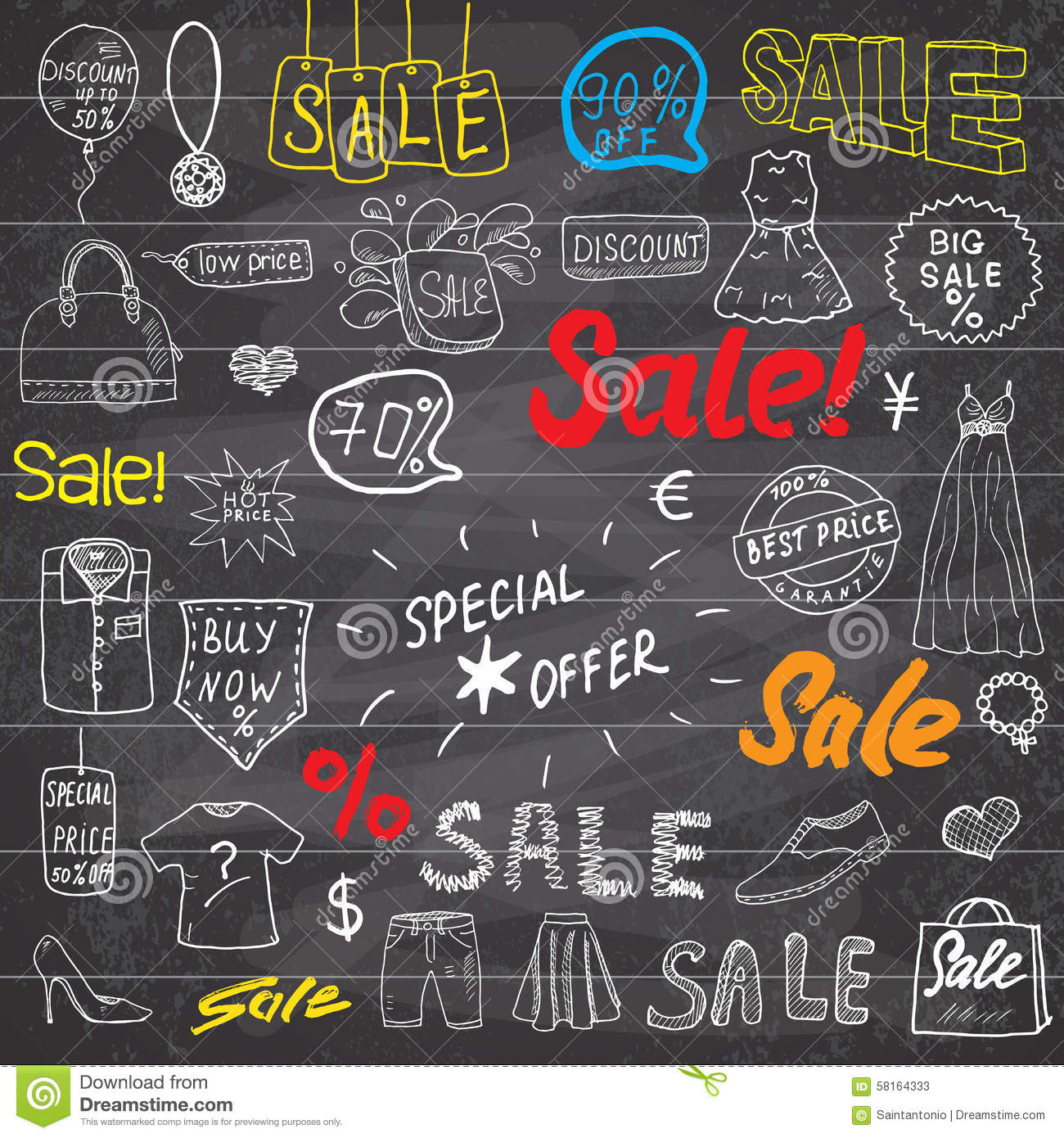 Sale signs and price discount tags shopping associated symbols sale signs and price discount tags shopping associated symbols hand drawn set of design elements with hand written lettering v biocorpaavc
