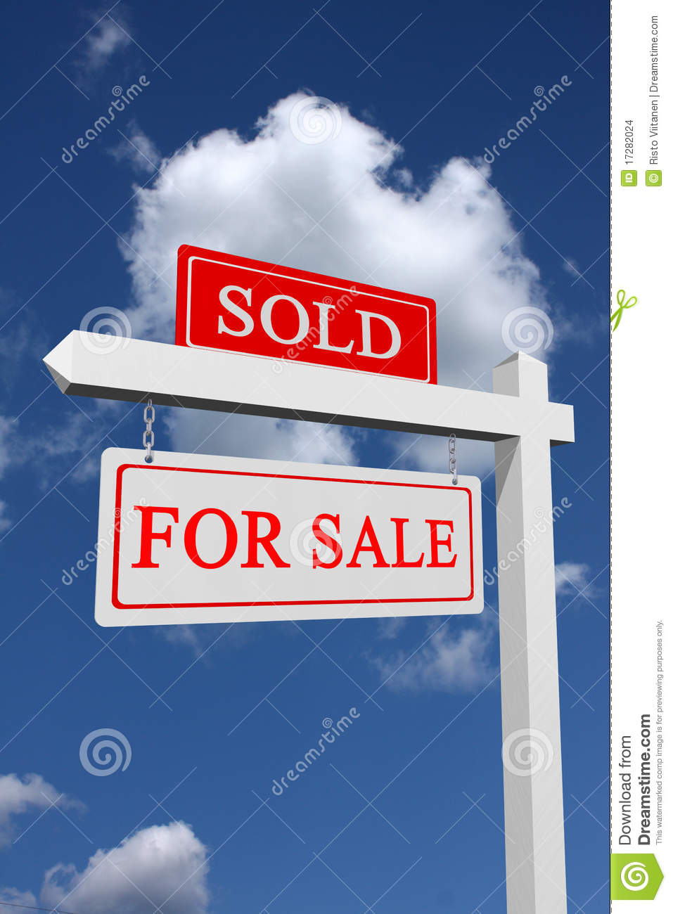 For Sale Sold Sign: For Sale And Sold Sign Stock Photo. Image Of Sell, Profit