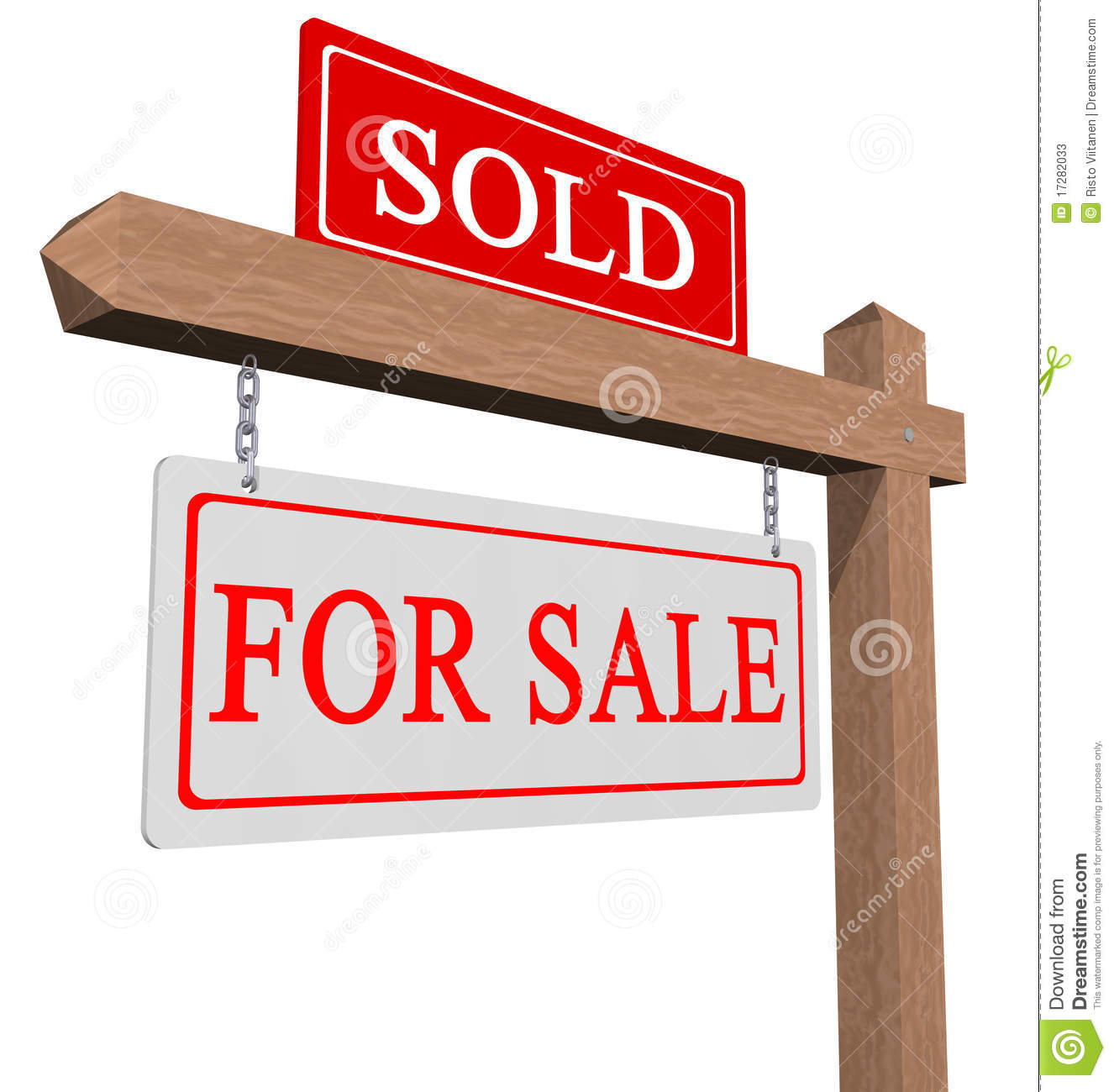 For Sale And Sold Sign Stock Image Of Agent