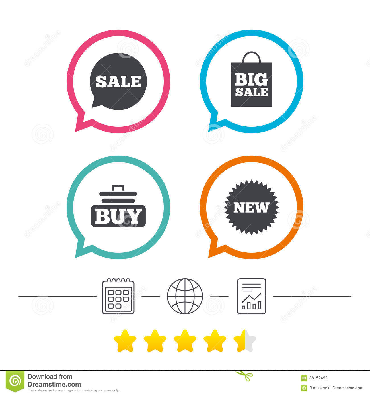 Sale Speech Bubble Icon. Buy Cart Symbol. Stock Vector - Image ...