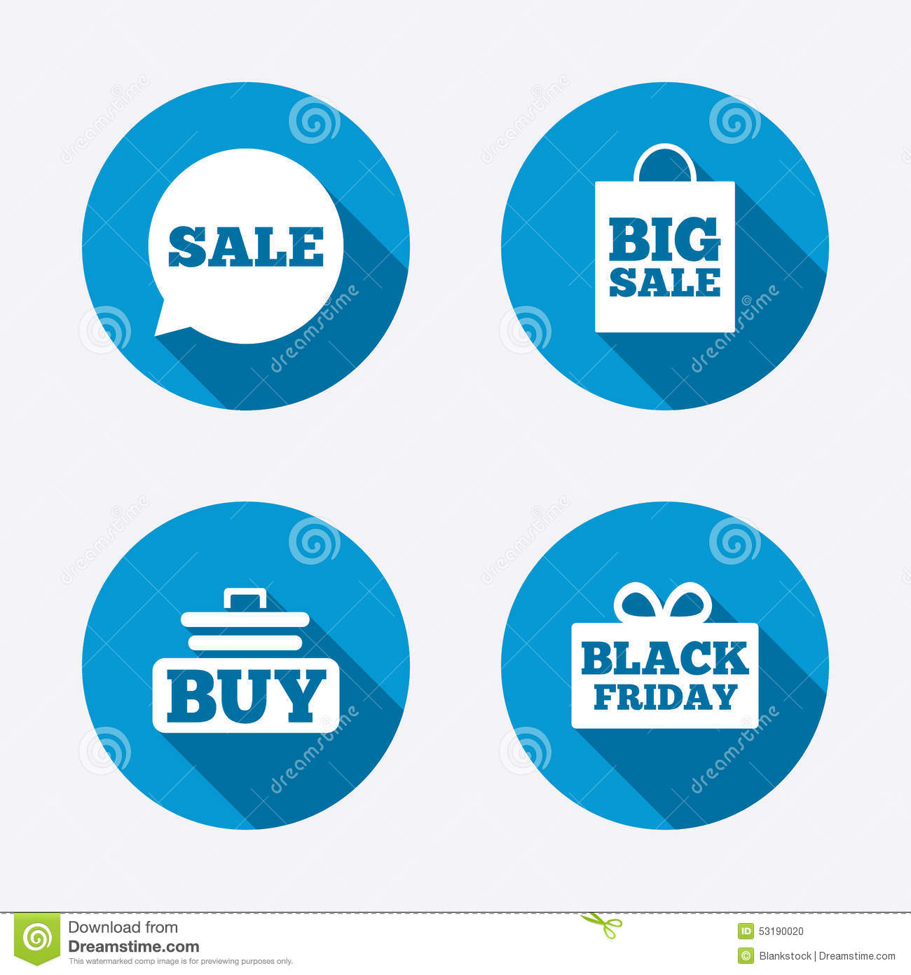 Sale Speech Bubble Icons. Buy Cart Symbol Stock Vector - Image ...