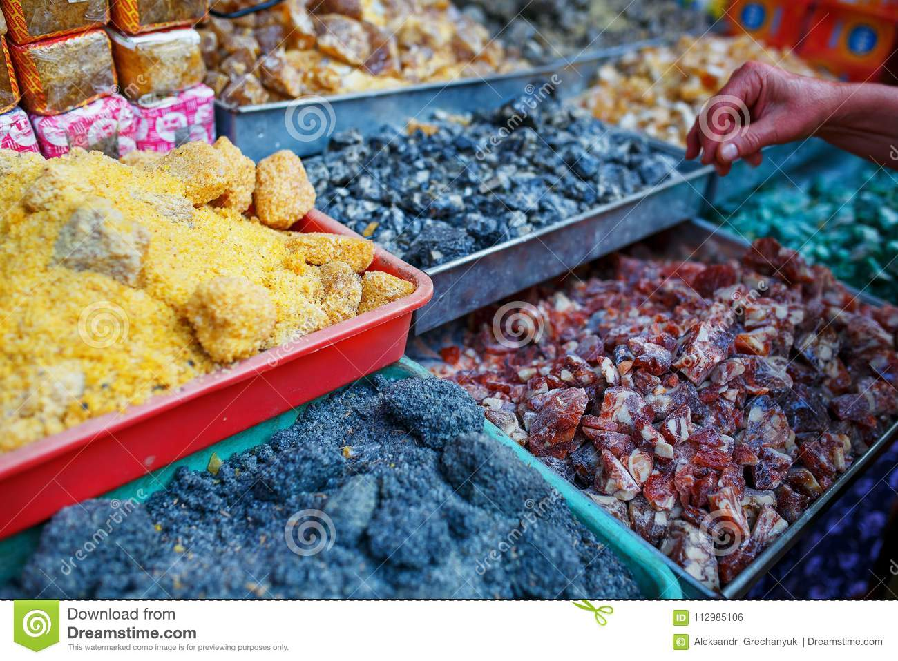 Sale of spices in the markets of Goa and other states