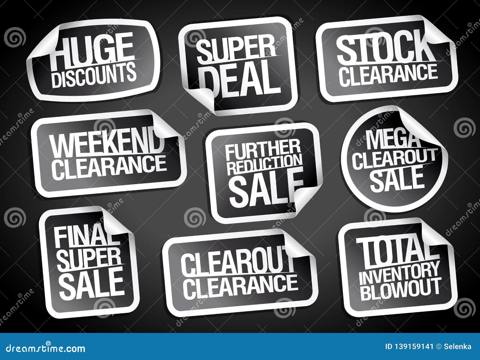 3e555894c23e76 Sale Stickers Collection - Huge Discounts