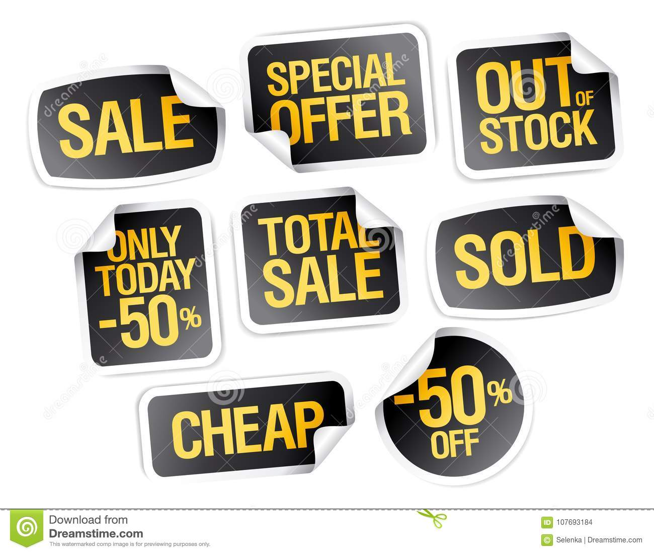Sale stickers collection special offer out of stock cheap