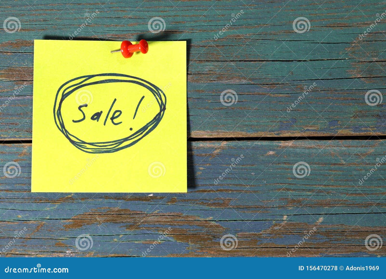 Sale on sticky