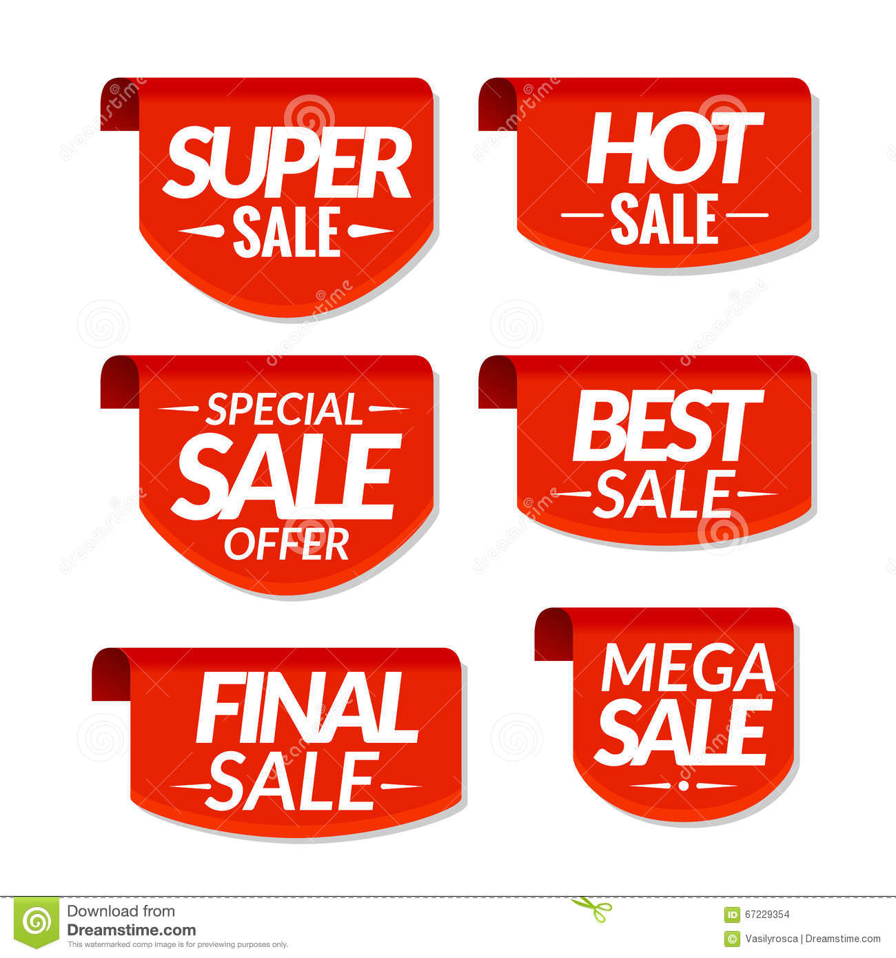 Best Sales: Sale Tags Labels. Special Offer, Hot Sale, Special Sale
