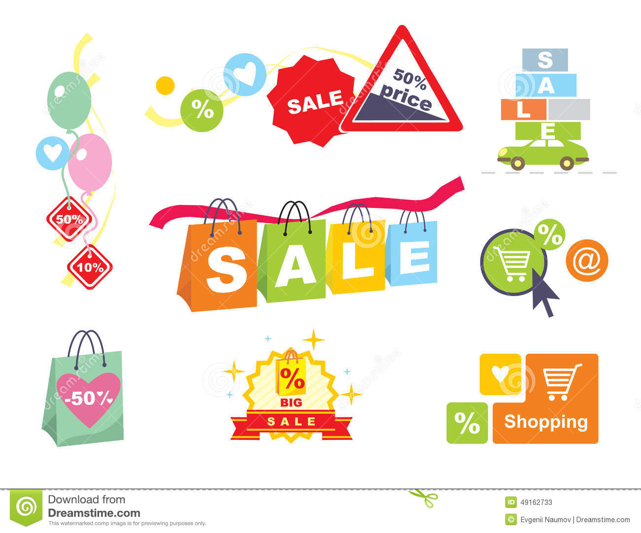 Sale tags sale banners set shopping stock vector for Online retailer for sale