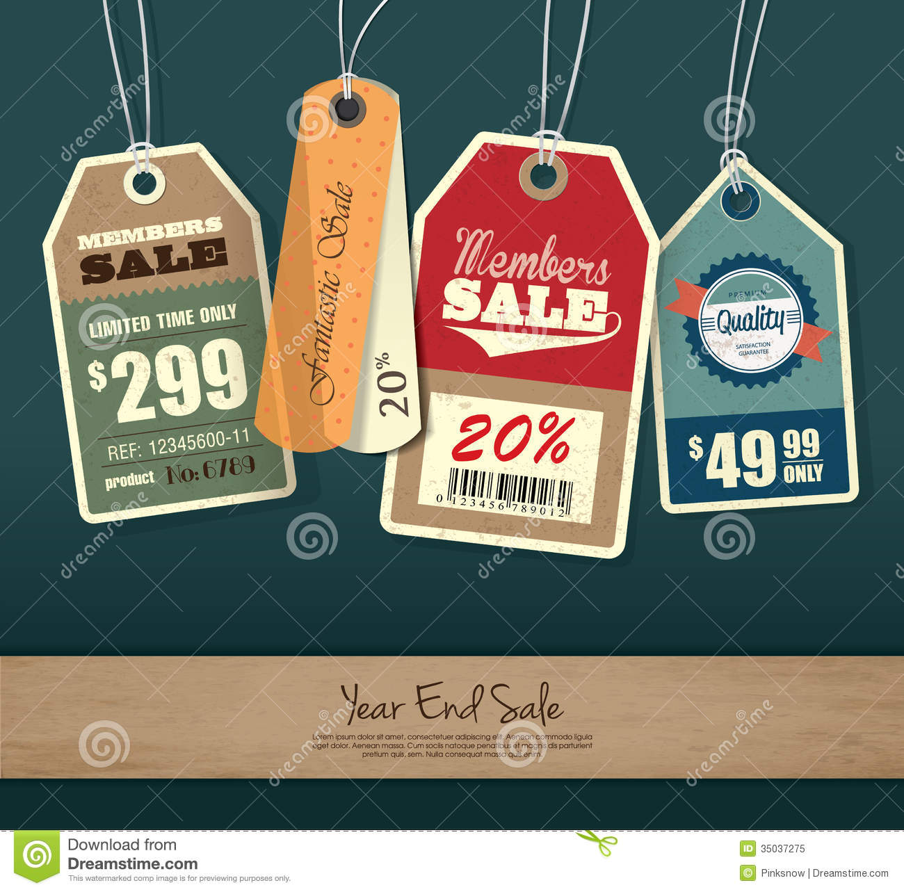 sale tags stock vector illustration of advertising discount 35037275