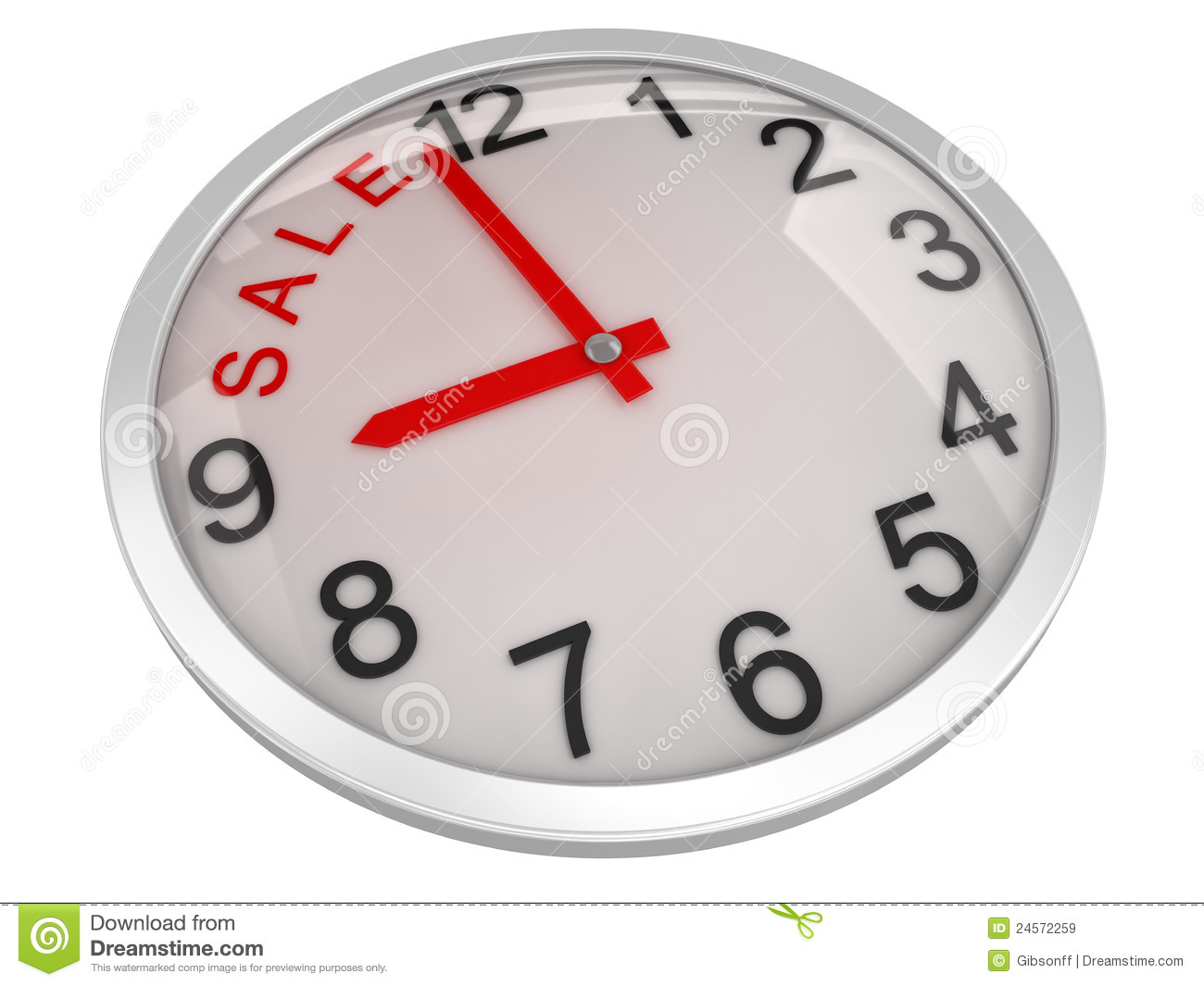 Sale Time On Alarm Clock Royalty Free Stock Images Image