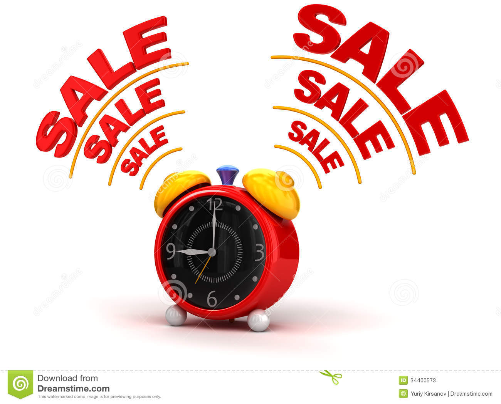 Sale Time On Alarm Clock Stock Photos Image 34400573