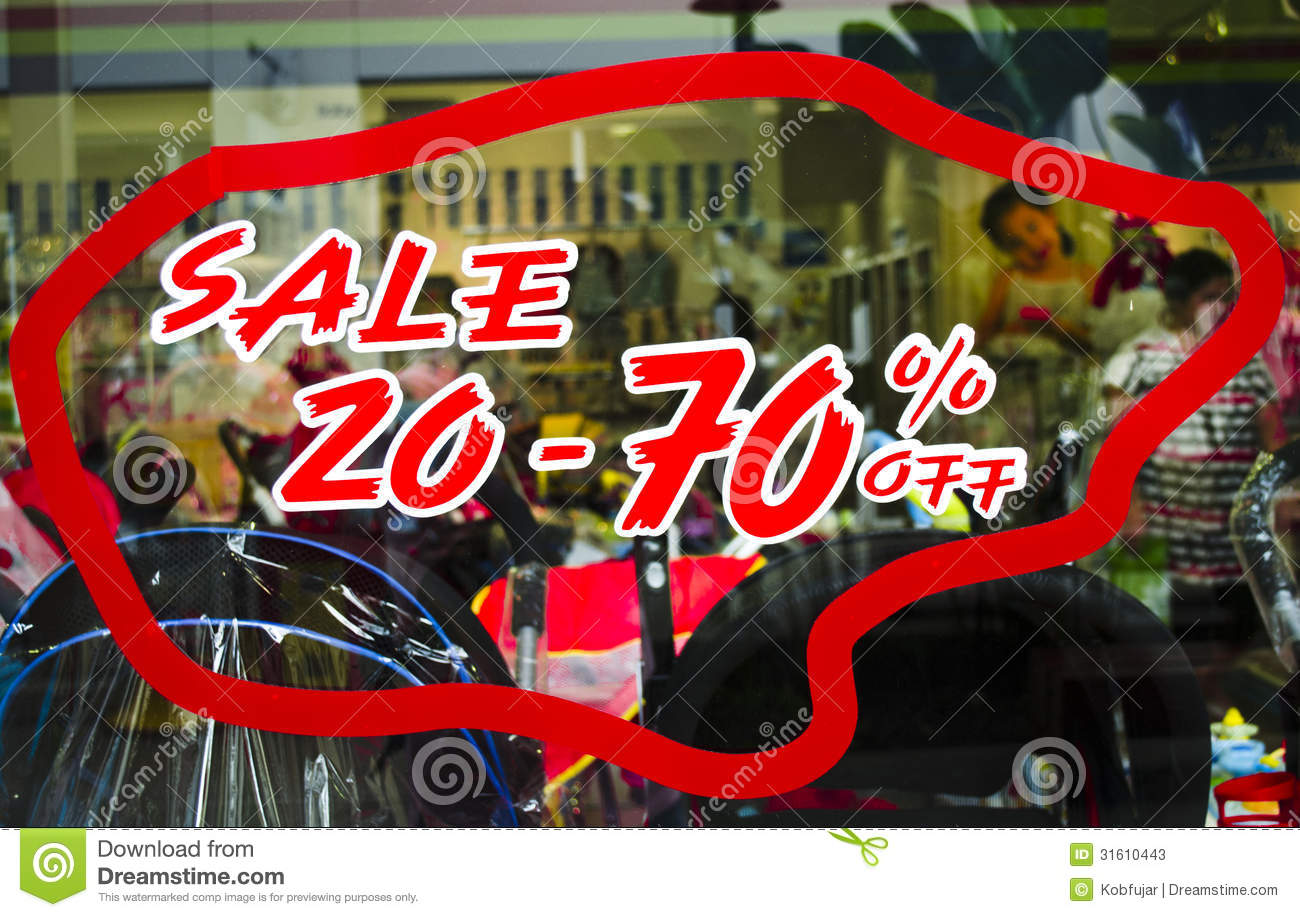 Promotion Tag: Sale 20 To 70 Percent Promotion Tag Stock Photos