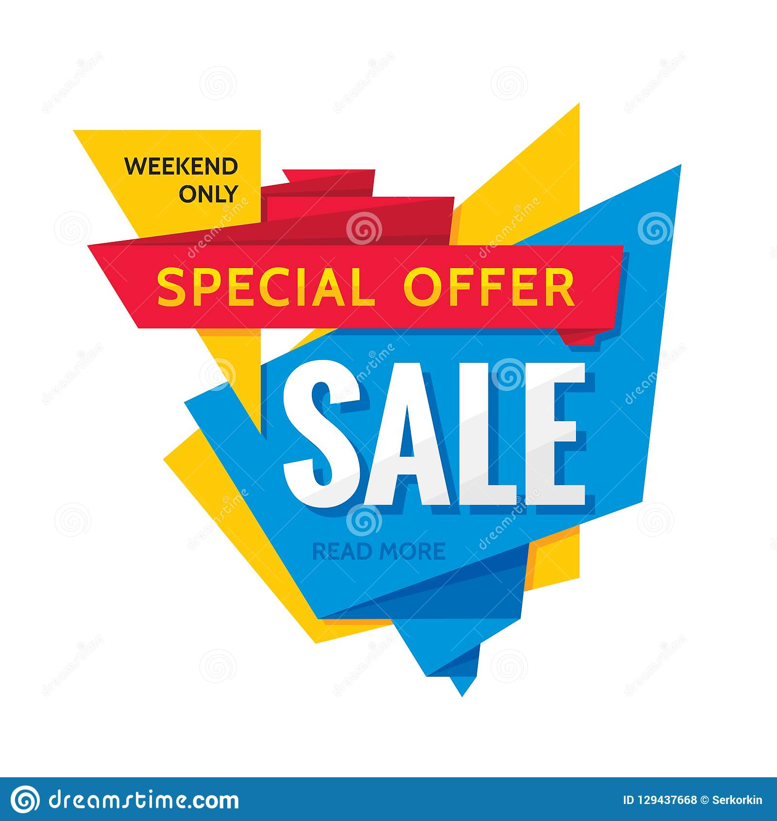 Sale Vector Creative Banner Illustration Abstract Concept