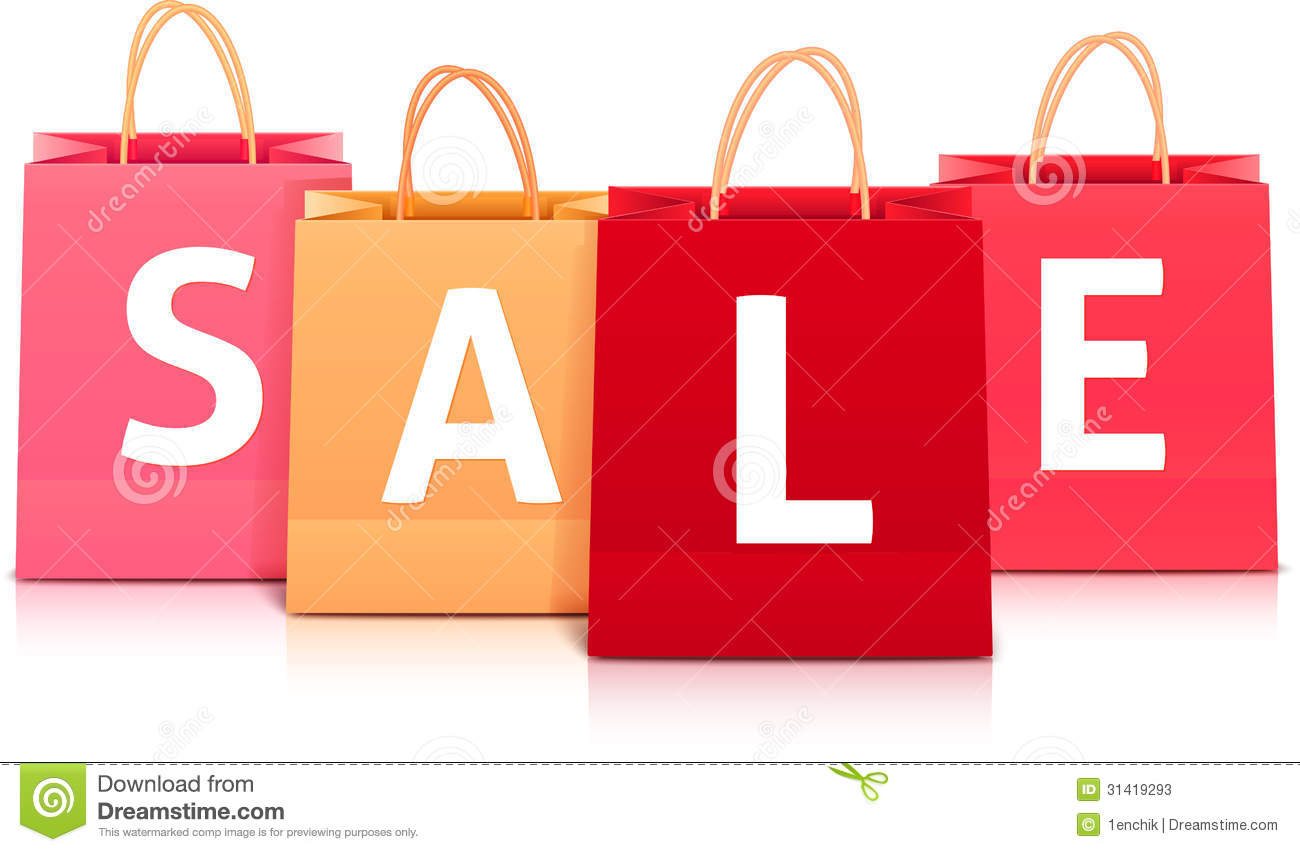 Sale Vector Shopping Bag Set Stock Photos - Image: 31419293