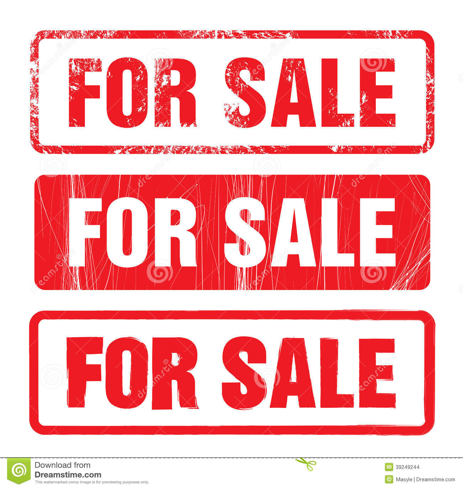 For Sale Vector Stamp Set Stock Vector. Illustration Of