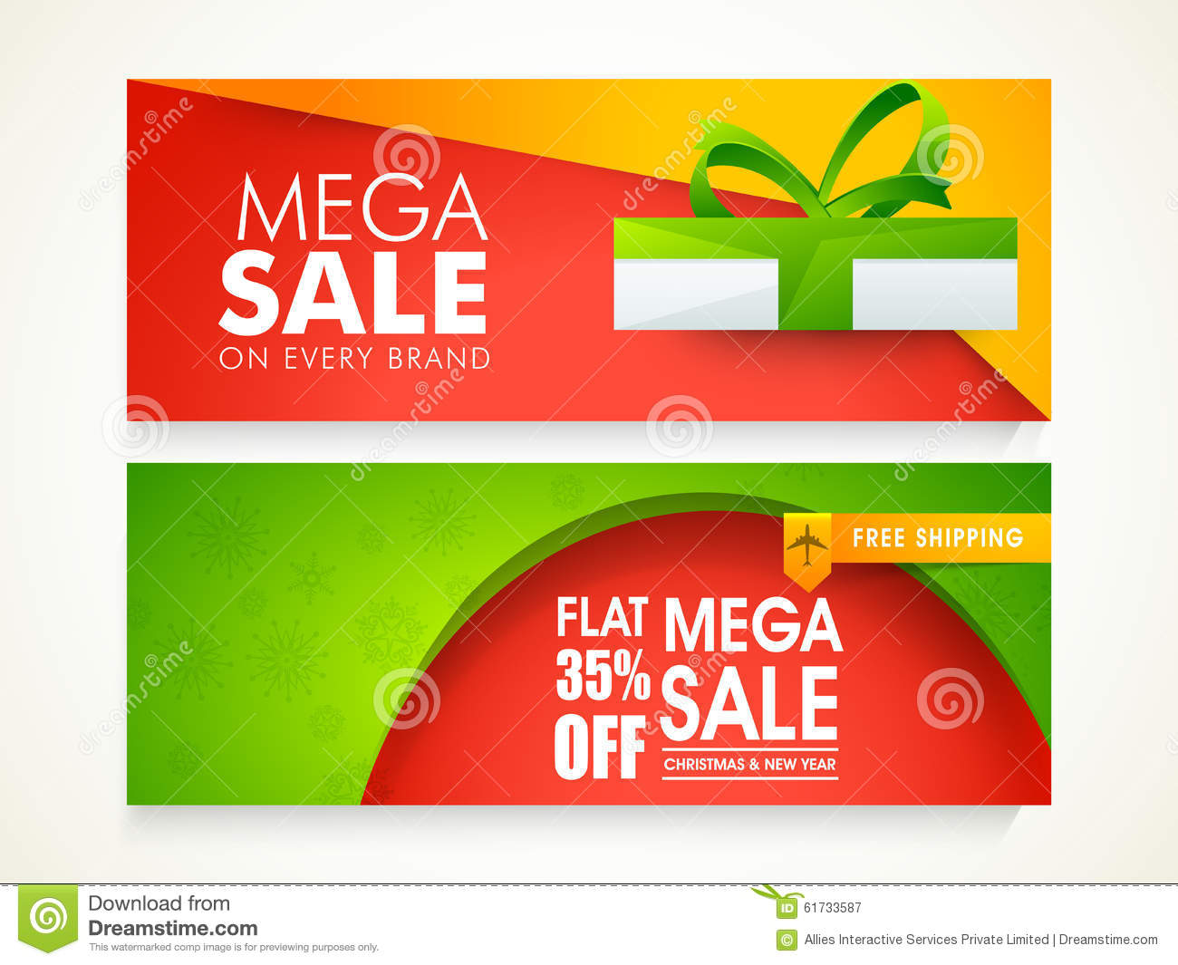 sale web header or banner for christmas and new year