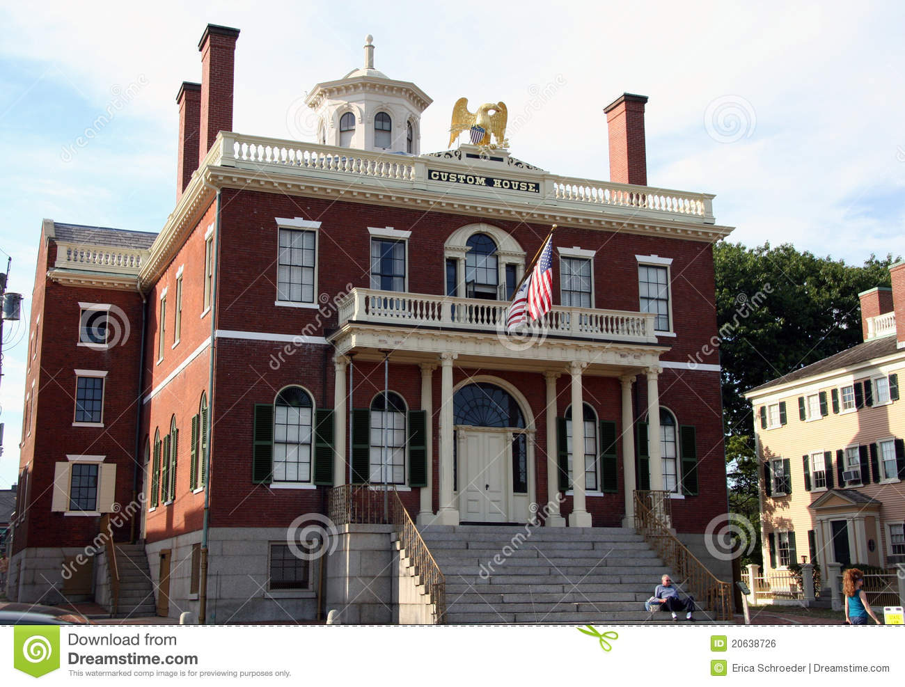 Salem Ma Custom House Editorial Photo Image Of
