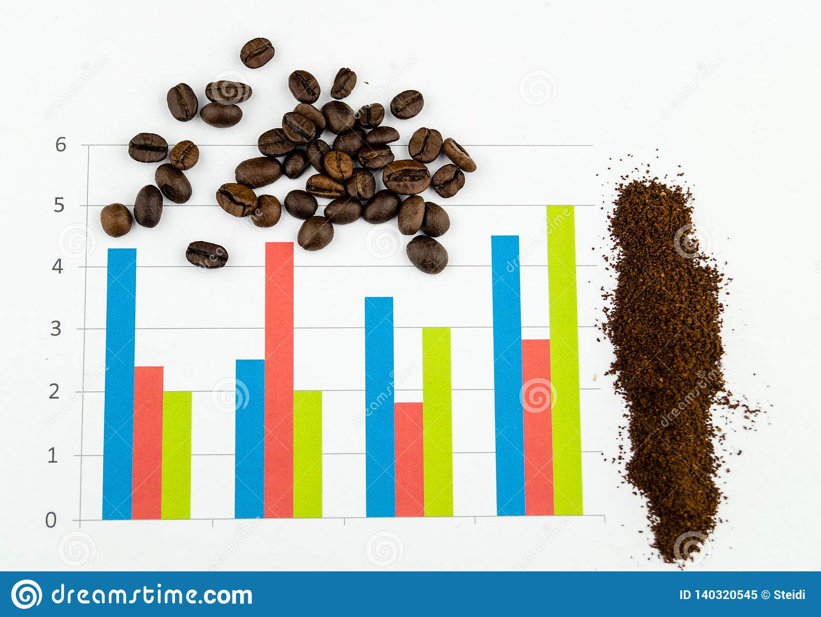 Infographic coffee beans