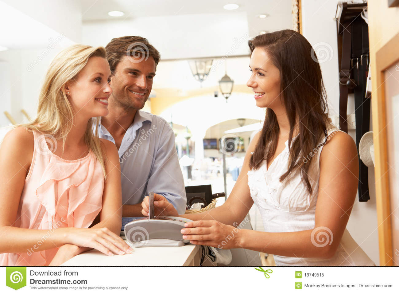 s assistant customer in clothing store royalty stock s assistant in store customers royalty stock photo