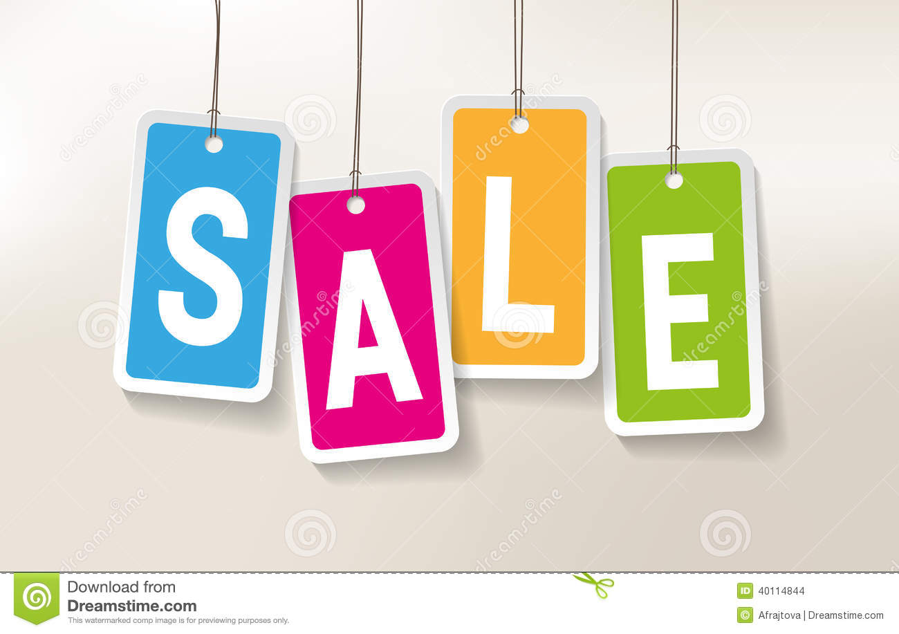 Sales Banner Stock Vector - Image: 40114844: dreamstime.com/stock-images-sales-banner-colorful-price-tags-sale...