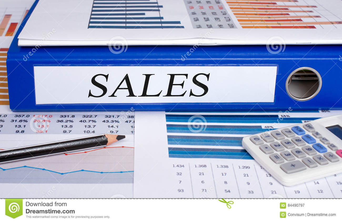 sales binder with calculator in the office stock image image of